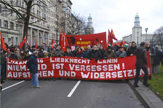 Stor demonstration i Berlin